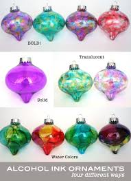 water color ink ornaments handmade ornaments no