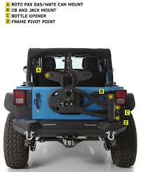 jeep rear bumper with tire carrier amazon com smittybilt 76857 src gen 2 bolt on tire carrier for