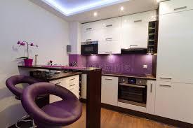 cuisine pourpre cuisine blanche et pourprée moderne image stock image 25709955