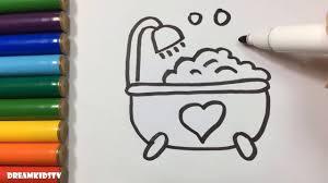 draw bathtub soap bubbles coloring book