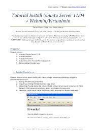 ubuntu network install tutorial tutorial installasi ubuntu 11 04 untuk webhost dengan webmin dan virt