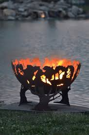 custom fire rings images 55 best metal fire pit ideas images outdoor fire jpg