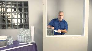 how to install pittsburgh corning glass block youtube