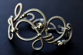wire bracelet images Hand formed sterling silver coiled wire bracelet jpg