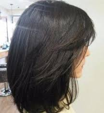 medium length hairstyles for women over 40 with bangs dark shoulder length haircuts women over 40 hairstyles haircuts