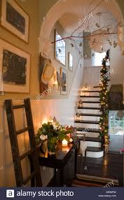 christmas decoration mexican style in a victorian house in london