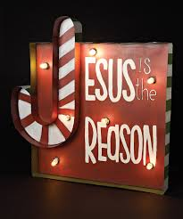 lighted merry christmas yard sign look at this 30 jesus is the reason light up sign 29 88 h on