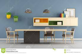 Minimalist Table by Modern Dining Room With Minimalist Table Stock Illustration