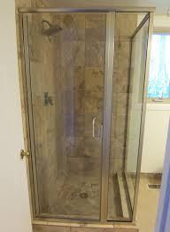 semi frameless shower door installation med art home design posters