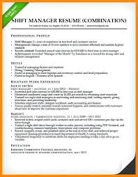 hybrid resume hybrid resume sles hybrid resume template food shift manager