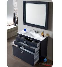 fresca fpvn7536cb platinum due 40 inch glossy cobalt modern