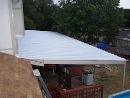 Patio Awning Metal Encino Park Wooden To Metal Patio Awning Carport Patio Covers