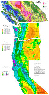 Pacific Northwest Map Maptitude U2014 This Map Shows Average Annual Precipitation In The