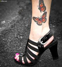 50 lovely ankle butterfly tattoos designs small 3d ankle