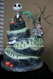 coolest nightmare before topsy turvy birthday cake 17