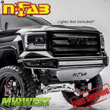 Ebay Led Lights N Fab Black Rds Led Light Mount Front Bumper For 2014 2015 Gmc