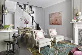 vintage living room ideas with french styled chairs and soft grey