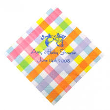 personalized napkins colorful gingham set of 50