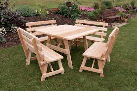 Round Redwood Picnic Table by Perfect Teak Picnic Table U2014 The Clayton Design To Extend Round