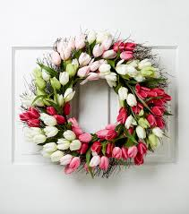 tulip wreath blooming 22 tulip wreath pink green joann