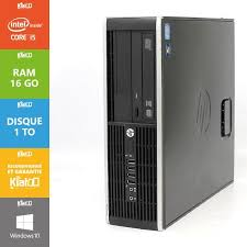 pc bureau hp elite 8200 i5 16go ram 1to disque dur ordinateur
