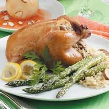 rice stuffed cornish hens recipe taste of home