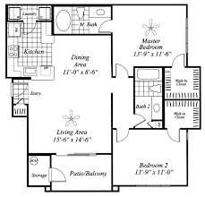 Two Bedroom Floor Plan by Apartments For Rent In Avondale Az Aventura