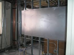 sheet metal wall backing architecture engineering and construction