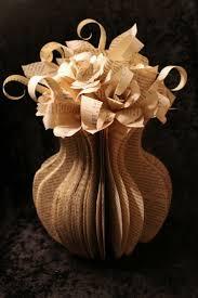 349 best book inspired crafts images on pinterest books book large flower vase book sculpture book page craftsdiy paper
