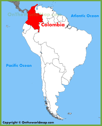 Map Of Columbia Colombia Location On The South America Map At Columbia Map