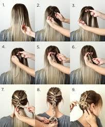 Frisuren Zum Selber Machen Mit Anleitung Mittellange Haare by Einfache Anleitungen Für Zopf Frisuren Auch Für Kurze Haare