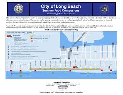 Long Beach Map Summer Food Concessions News In Our City The City Of Long
