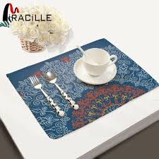 napperon de cuisine miracille 2 4 6 pcs napperon mandala géométrie tapis cuisine