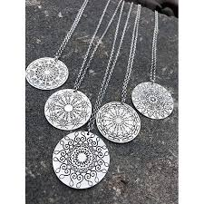 necklaces that say your name namedala mandala name necklace mandala sterling silver and