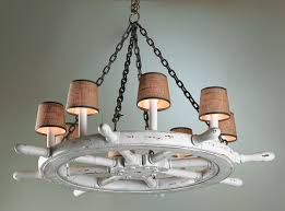Beachy Chandeliers Ship Wheel Chandelier You Can See It In A Room Here Http Www