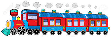 steam locomotive wagons vector illustration royalty free