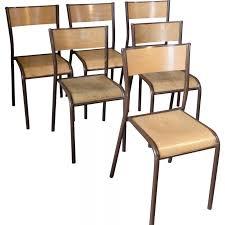chaise d colier lot de 6 chaises d écolier mullca 510 1960 design market