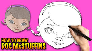 draw doc mcstuffins easy step step drawing lessons