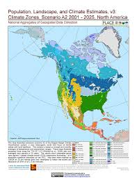 North America And Central America Map by Maps Population Landscape And Climate Estimates Place V3