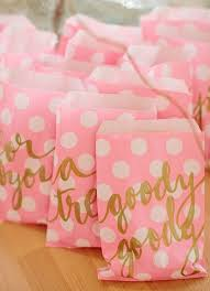 pink favor bags pink and gold favor bags so for a ballerina party 1st