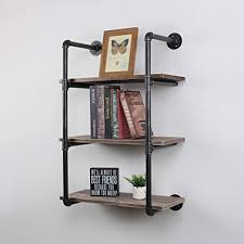 what of wood is best for shelves mbqq industrial pipe shelves with wood 3 tiers rustic wall mount shelf 24in metal hung bracket bookshelf diy storage shelving floating shelves