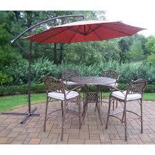 Patio Dining Sets With Umbrella - oakland living elite cast aluminum bar height patio dining set