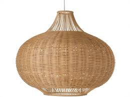 Inverted Bowl Pendant Light by Kouboo 1 Light Wicker Pendant Lamp U0026 Reviews Wayfair