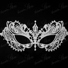 rhinestone masquerade masks aliexpress buy beautiful luxury masquerade mask white metal