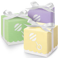baby shower favor boxes pastel color baby rattle favor boxes baby shower favors
