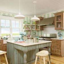 Coastal Cottage Kitchen - vintage pendant lights for a coastal kitchen blog