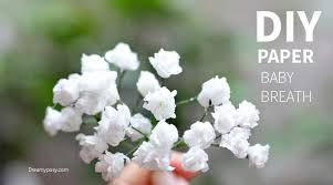 baby s breath flower simple and realistic to make baby breath paper flower