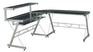 L Shaped Desk Designs L Shaped Desk Glass Design Thediapercake Home Trend