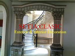 Desain Gapura Ruang Tamu | pilar sebagai simbol kekuatan arsitektur bangunan setia clasic