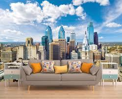 wall decor home decor home living vinyl wallpaper wall mural clouds city wall decal buildings wallpaper wall mural